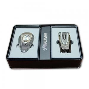 Xikar 2014 Holiday Cutter and Lighter Gift Set - Carbon Fibre